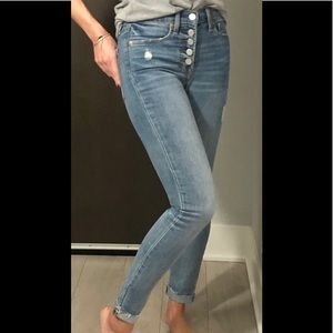 GAP button fly skinny jeans